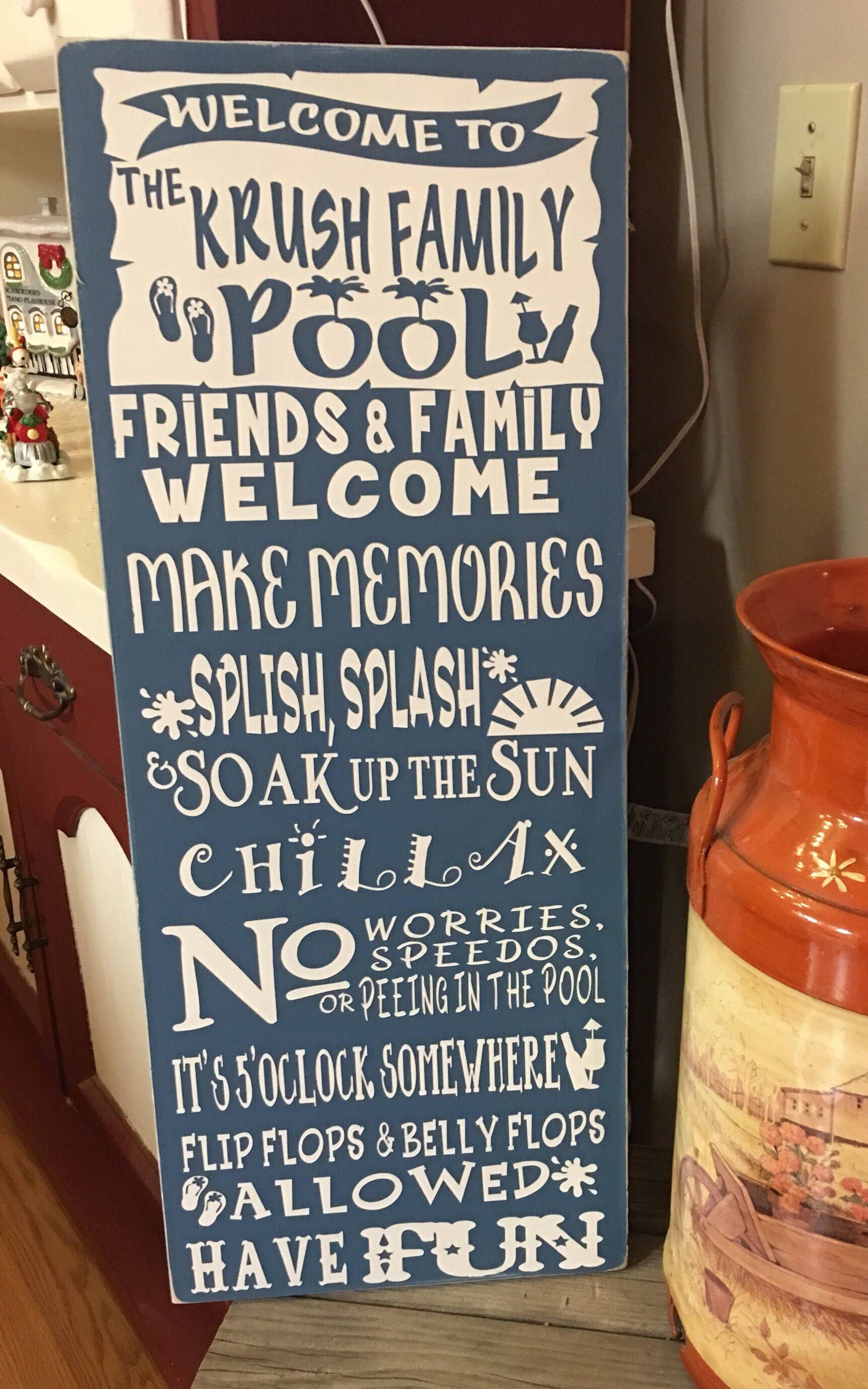 A Personal Favorite From My Etsy Shop Https Www Etsy Com Listing 581074943 Personalized Pool Rules Signs Pool Signs Pool Rules Sign Personalized Pool