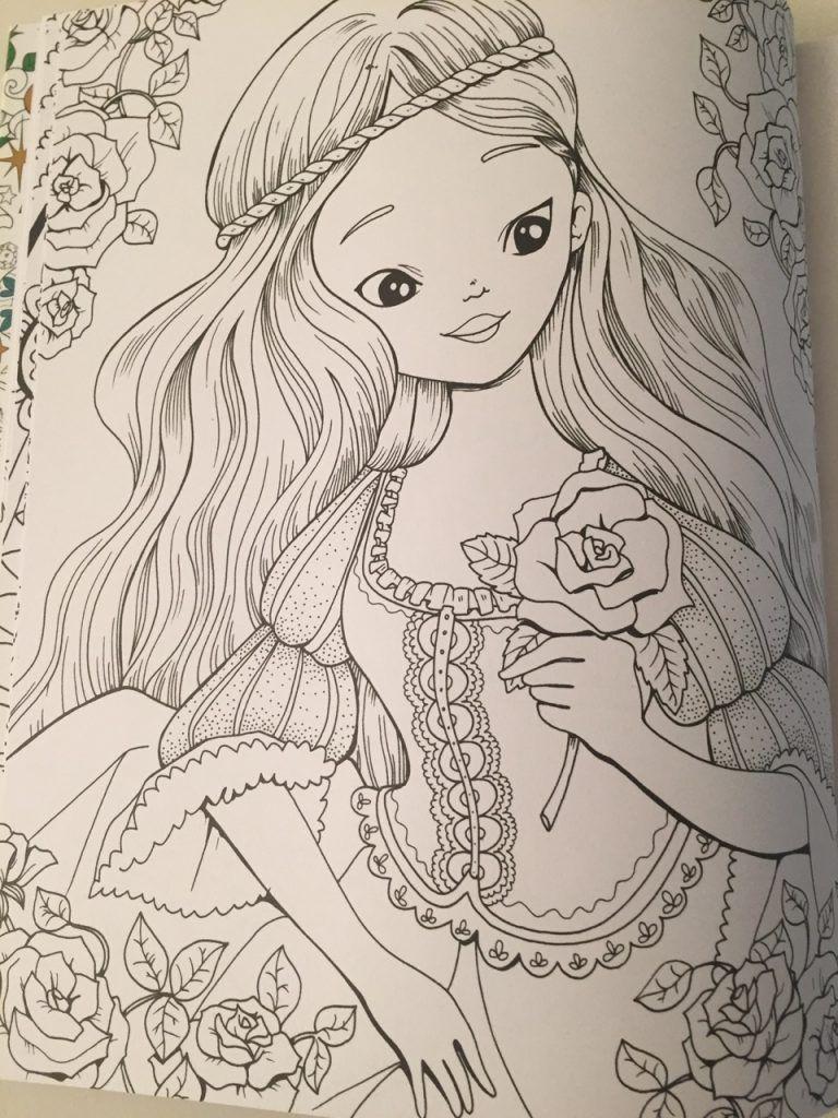 snow white coloring book fabiana attansio
