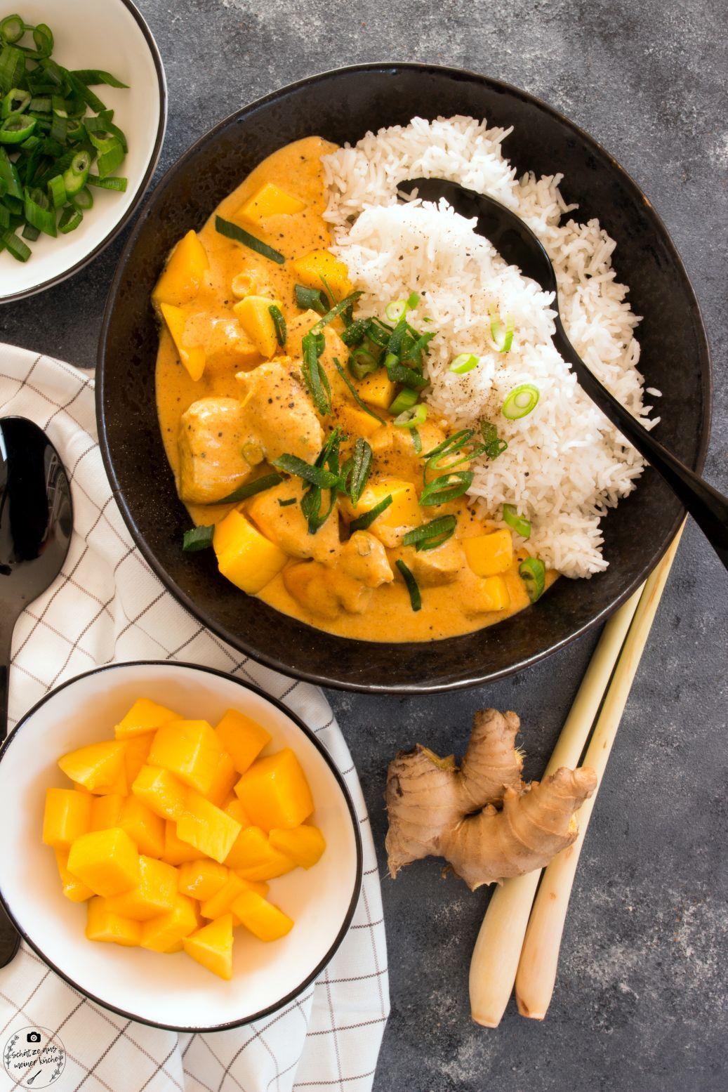 Mango Chicken Curry mit Basmatireis - Schätze aus meiner Küche