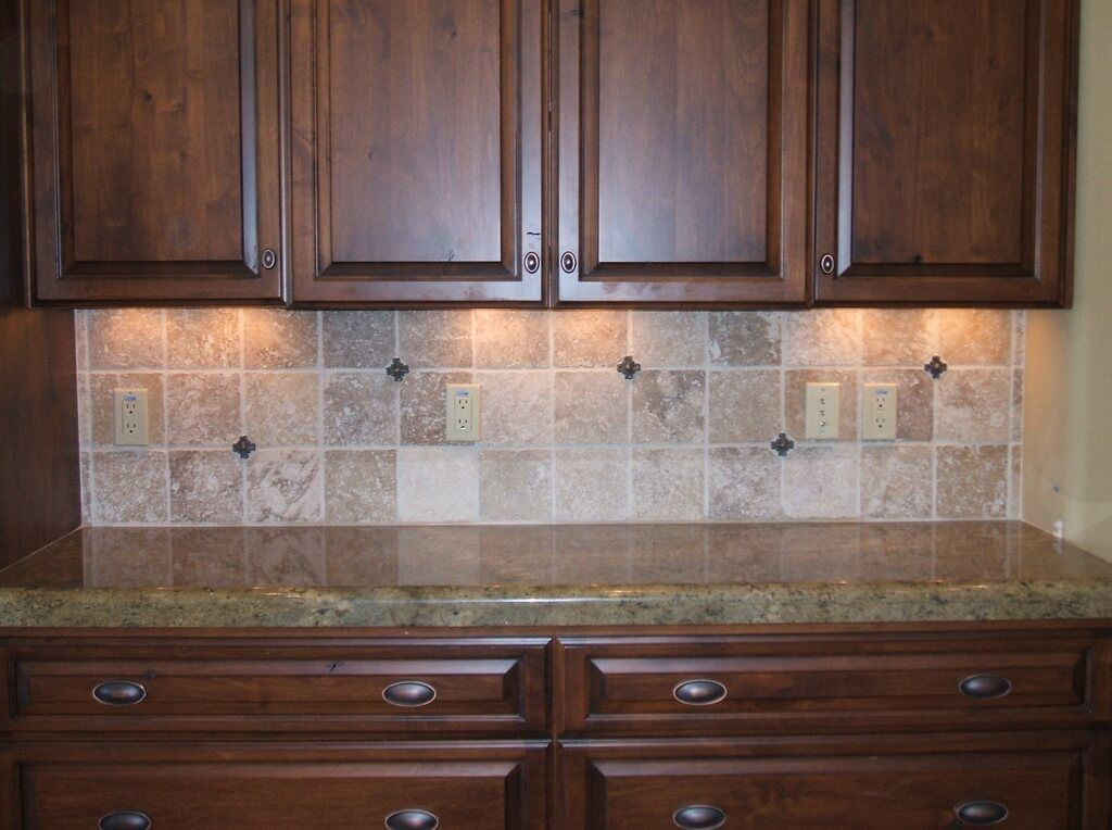 Kitchen Illuminated Travertine Tile Kitchen Backsplash From Travertine Tile  Kitchen Backsplash