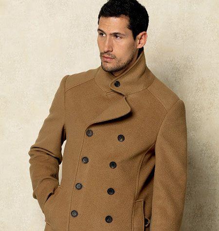 McCalls Pattern V8940, to Make a Custom Fit Camel Hair Coat. Men's Fall Winter Fashion.