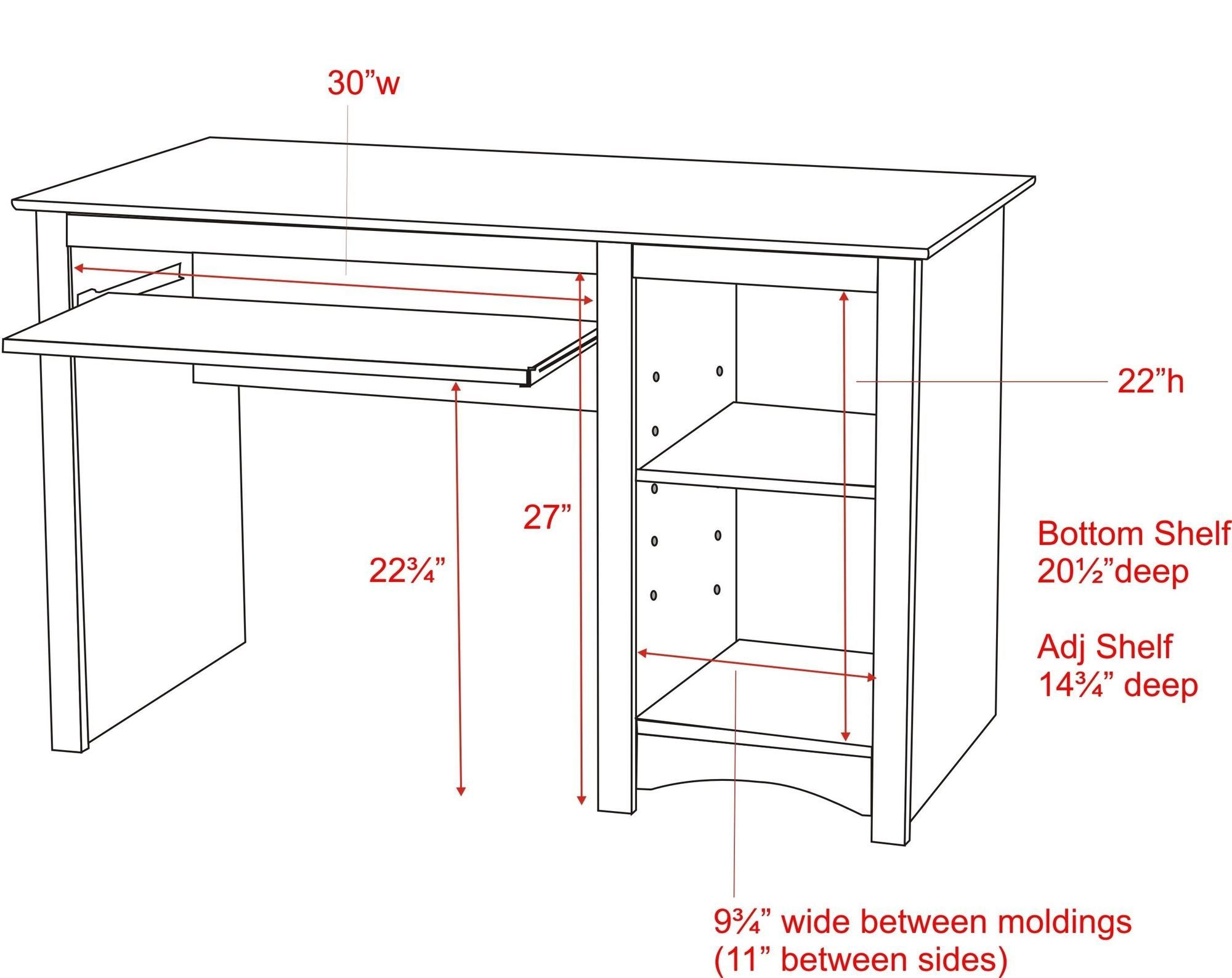 Standard puter Desk Measurements