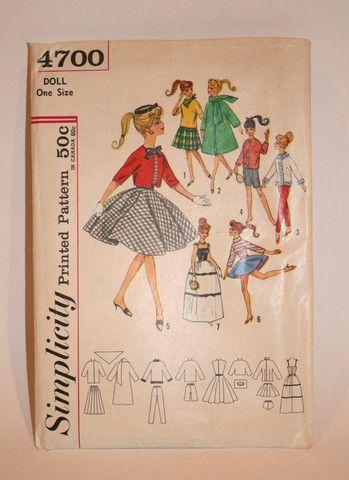 Vintage Barbie Pattern | Vintage Duds and Decor