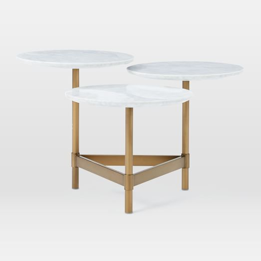 Tiered Circles Coffee Table Marble Coffee Table Living Room Coffee Table Circle Coffee Tables