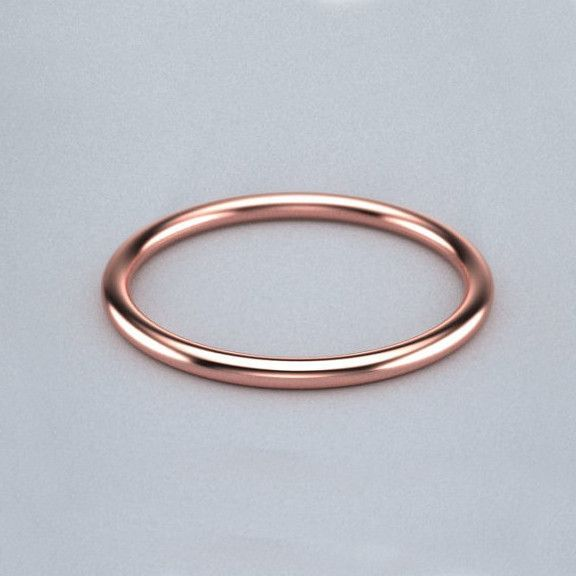1.5mm Thin Gold Band - Rose Gold | Gold bands, Rose and Gold wire