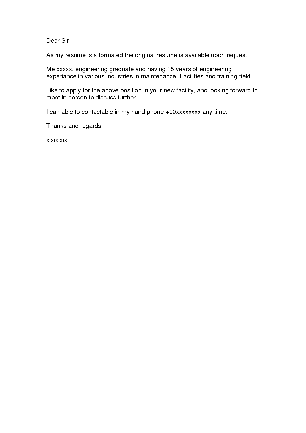 SIMPLE COVER LETTER Easy Template Pix WidescreenSimple Cover – Social Work Cover Letter Format