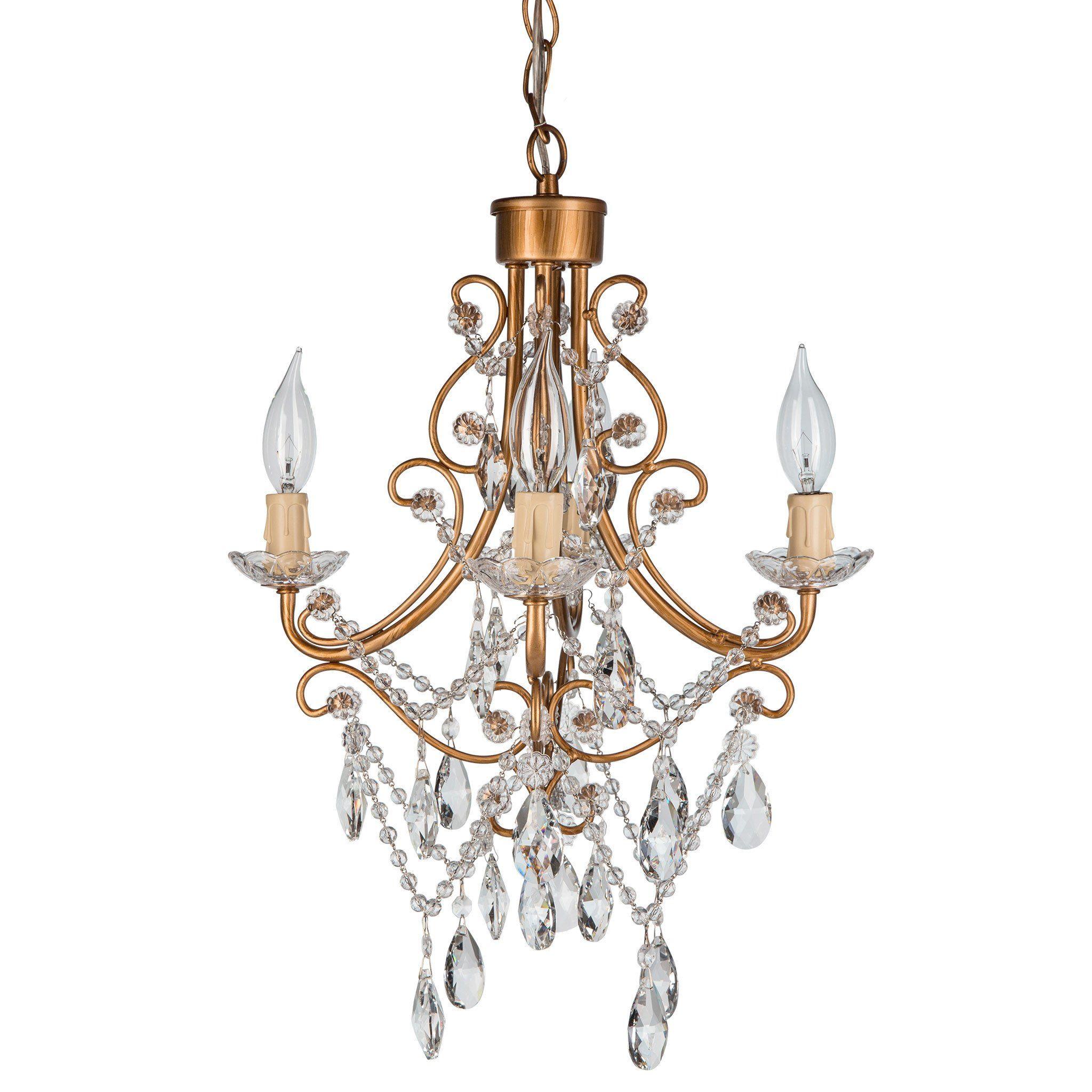 light antique crystal plugin chandelier gold mini chandelier