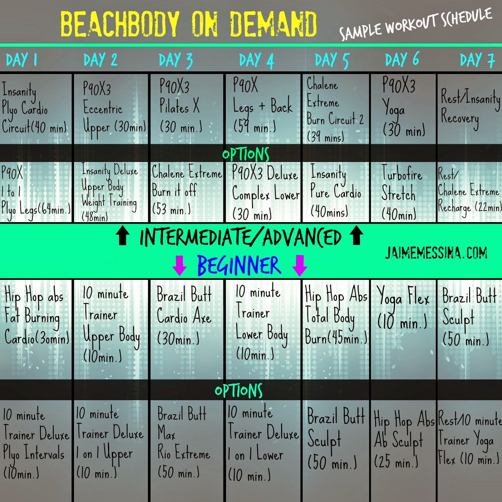 BodBeachbody On Demand Free Workout Schedule Workout Hybrid