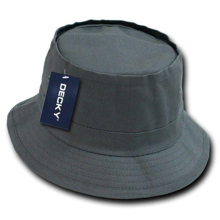 5570271e818 Charcoal Gray Fisherman s Fishing Sun Bucket Safari Boonie Cap Hat Caps Hats  S M
