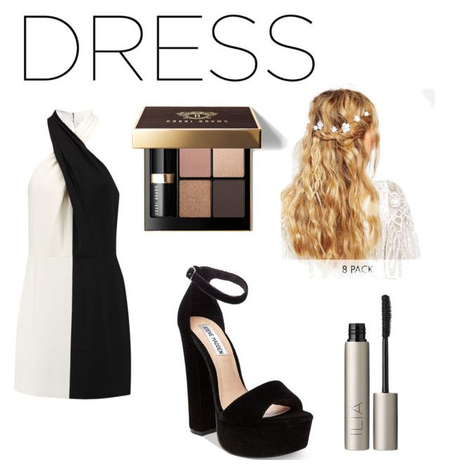 """Two tone dress"" by amaya-blanco-c on Polyvore featuring moda, Halston Heritage, Steve Madden, ASOS, Ilia y Bobbi Brown Cosmetics"