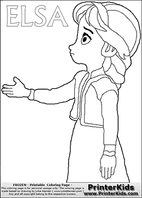 Coloring Page With ELSA From The 2013 Movie By DISNEY PIXAR Called FROZEN  (FROST In Several Countries As Well). This Coloring Page For Printing Shou2026