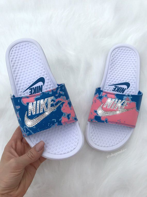 Brand New Womens Swarovski Nike Benassi JDI Swoosh Slide