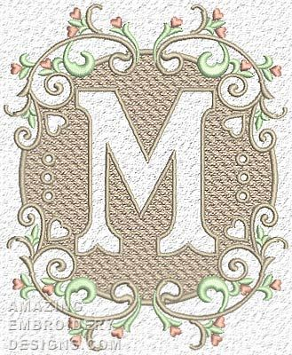 Free Embroidery Design: Letter M | Free Embroidery Designs ...