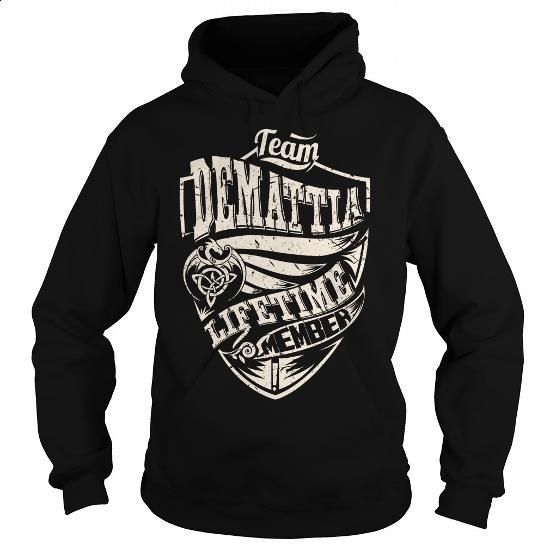 Team DEMATTIA Lifetime Member (Dragon) - Last Name, Surname T-Shirt - #small gift #hoodie dress