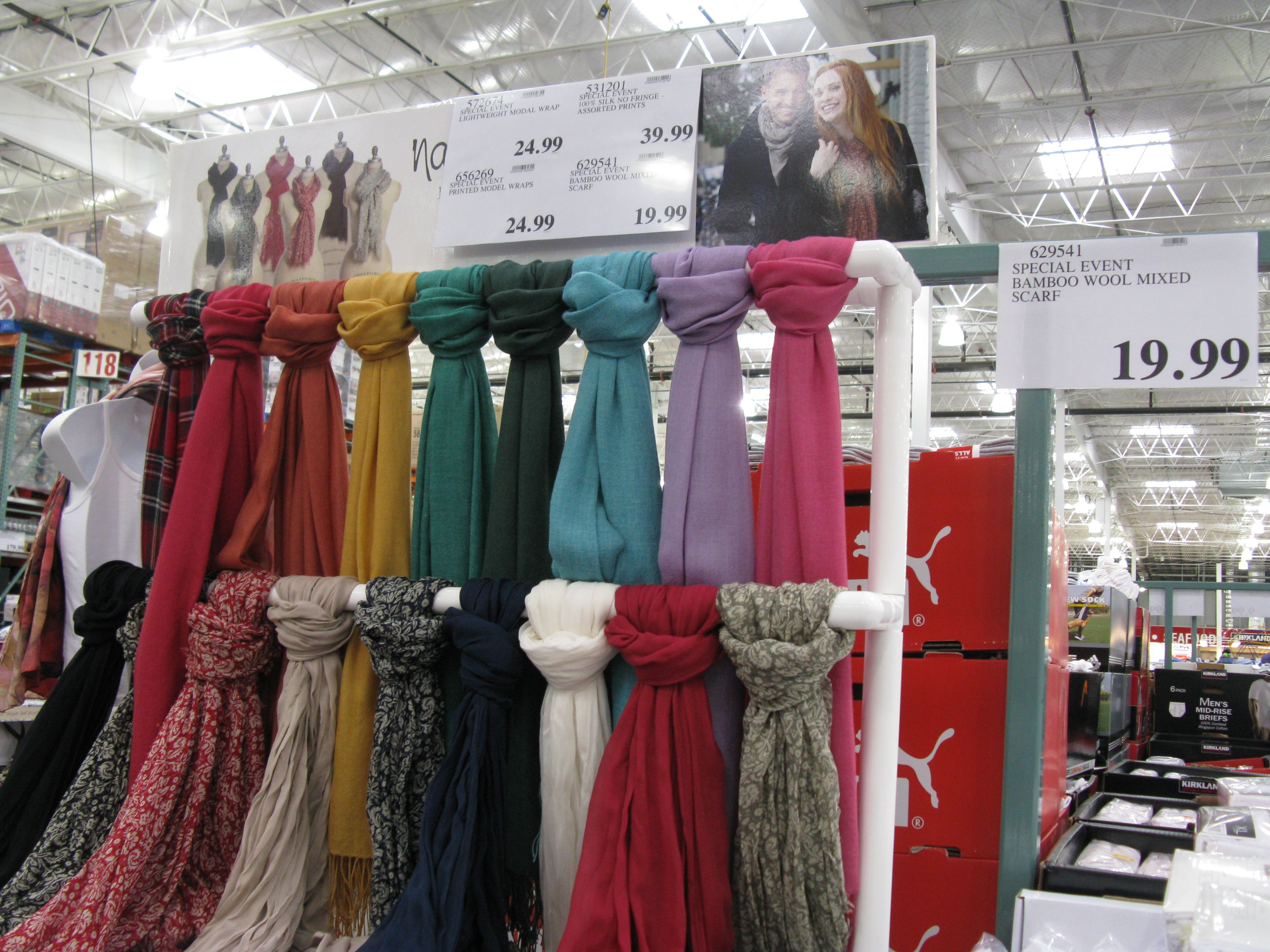 I like this idea for displaying scarfs | Craft ...
