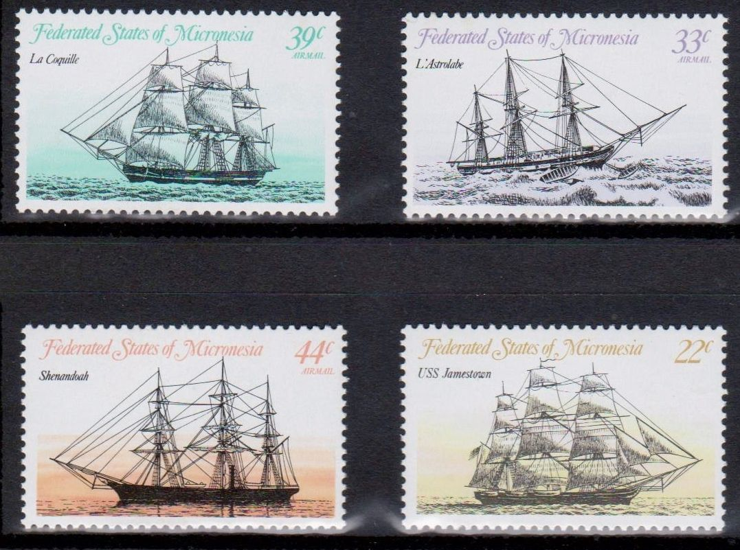 Federated States of Micronesia Tall Ship Stamps.