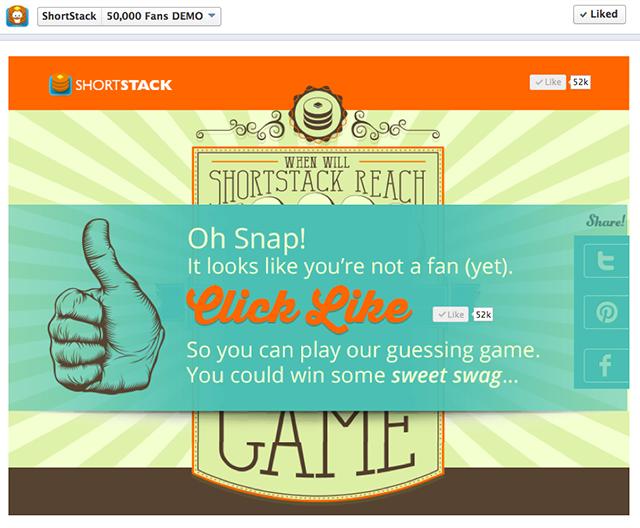 ShortStack's 50,000 Fan Guessing Game App Sweet games