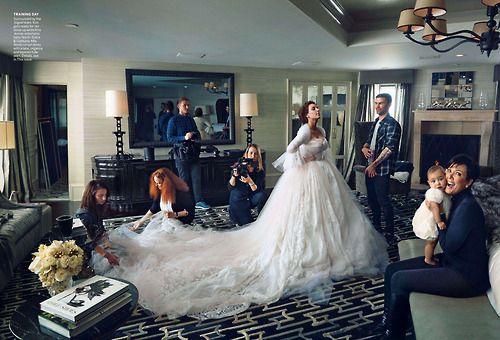 Kim & fam - Vogue shoot
