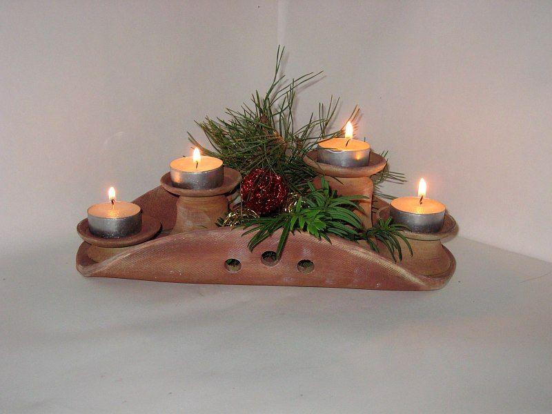 Weihnachtlich Töpfern