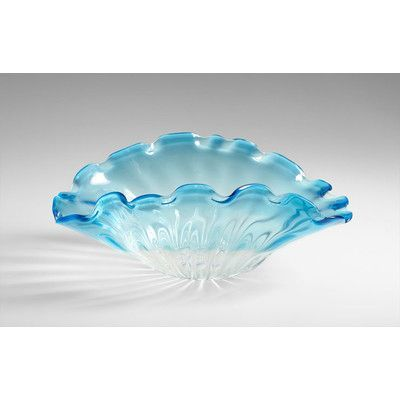 Cyan Design Small Weymouth Bowl in Cobalt Blue