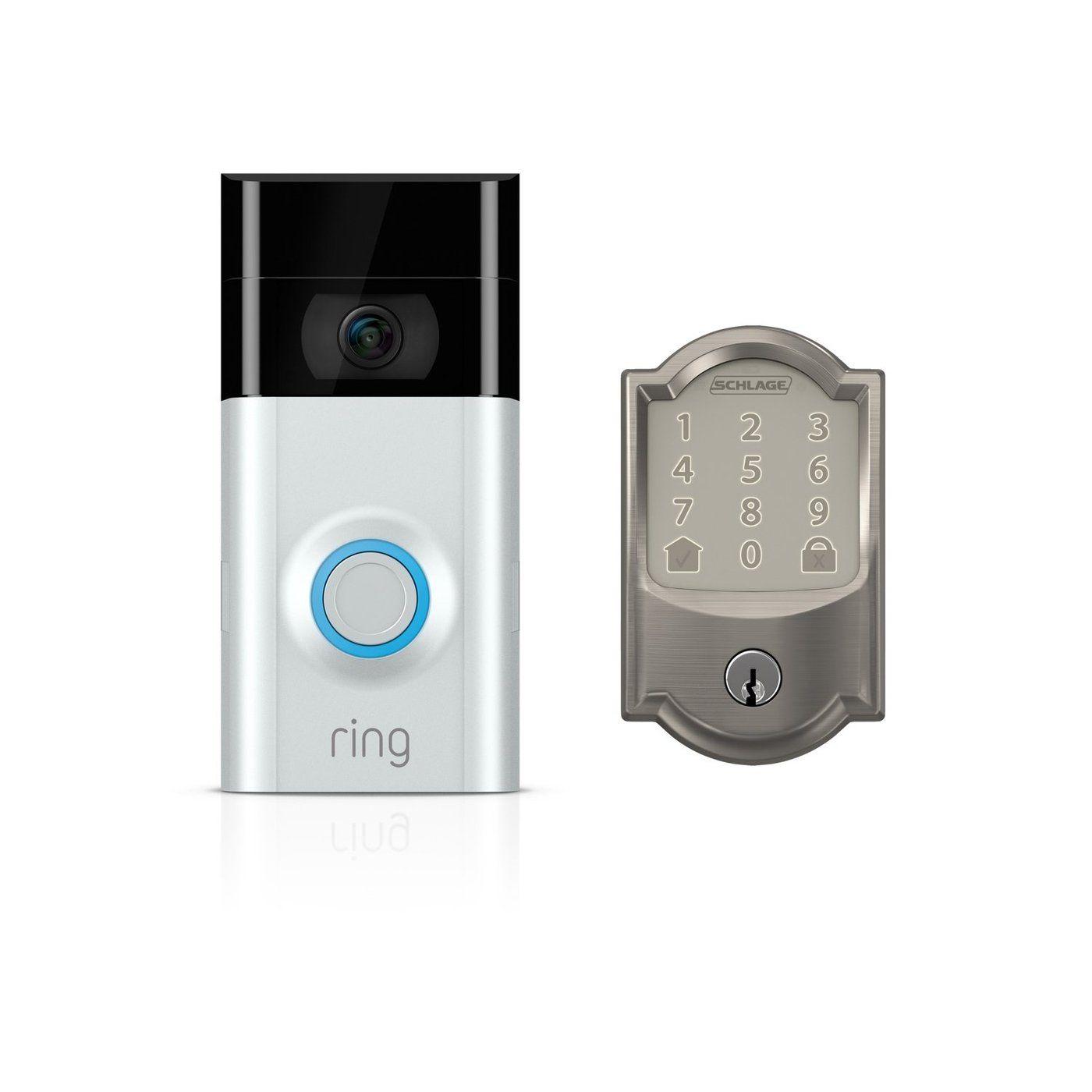Ring Video Doorbell 2 Schlage Encode Smart Wifi Deadbolt Ring Video Doorbell Deadbolt Schlage