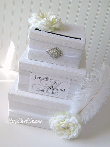 Wedding Card Box Envelope Card Holder Event Card Box 119 00 Via Etsy Trouwen