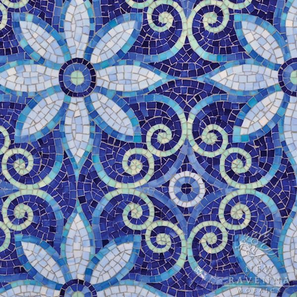 New Ravenna Blue Mosaics Collection Natasha | The Decorating Diva, LLC