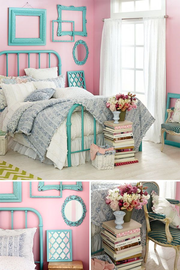 A Little Chic Lot Of Love For The Shabby Teal Girls RoomsGirls