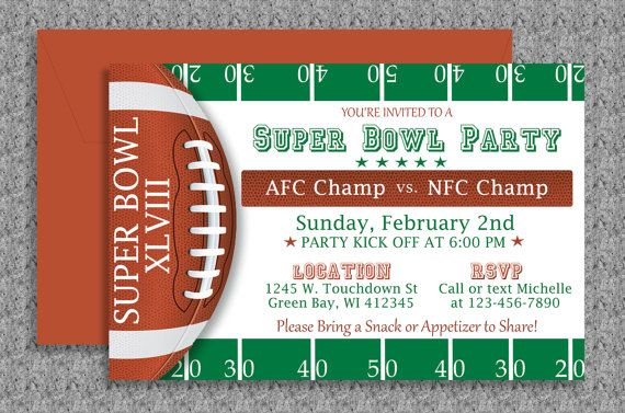 Super Bowl Invitation Editable Template by MyDIYDesigns on Etsy ...