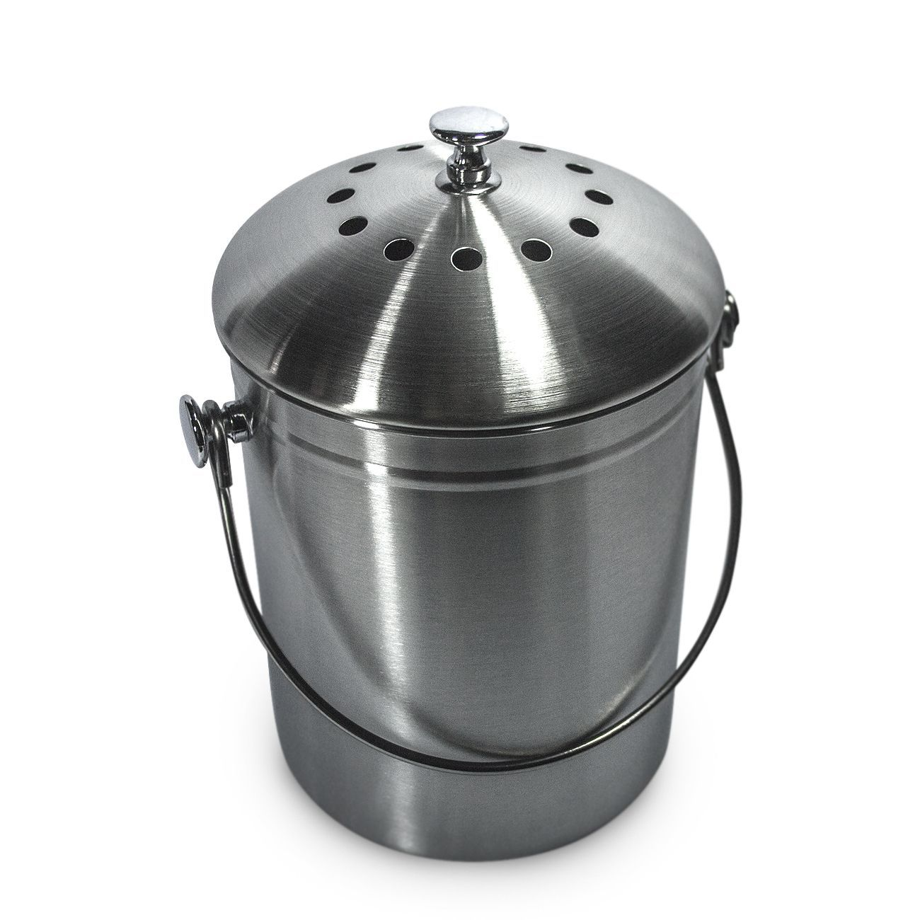 Stainless Steel 1gallon Compost Bin (Stainless Steel 1