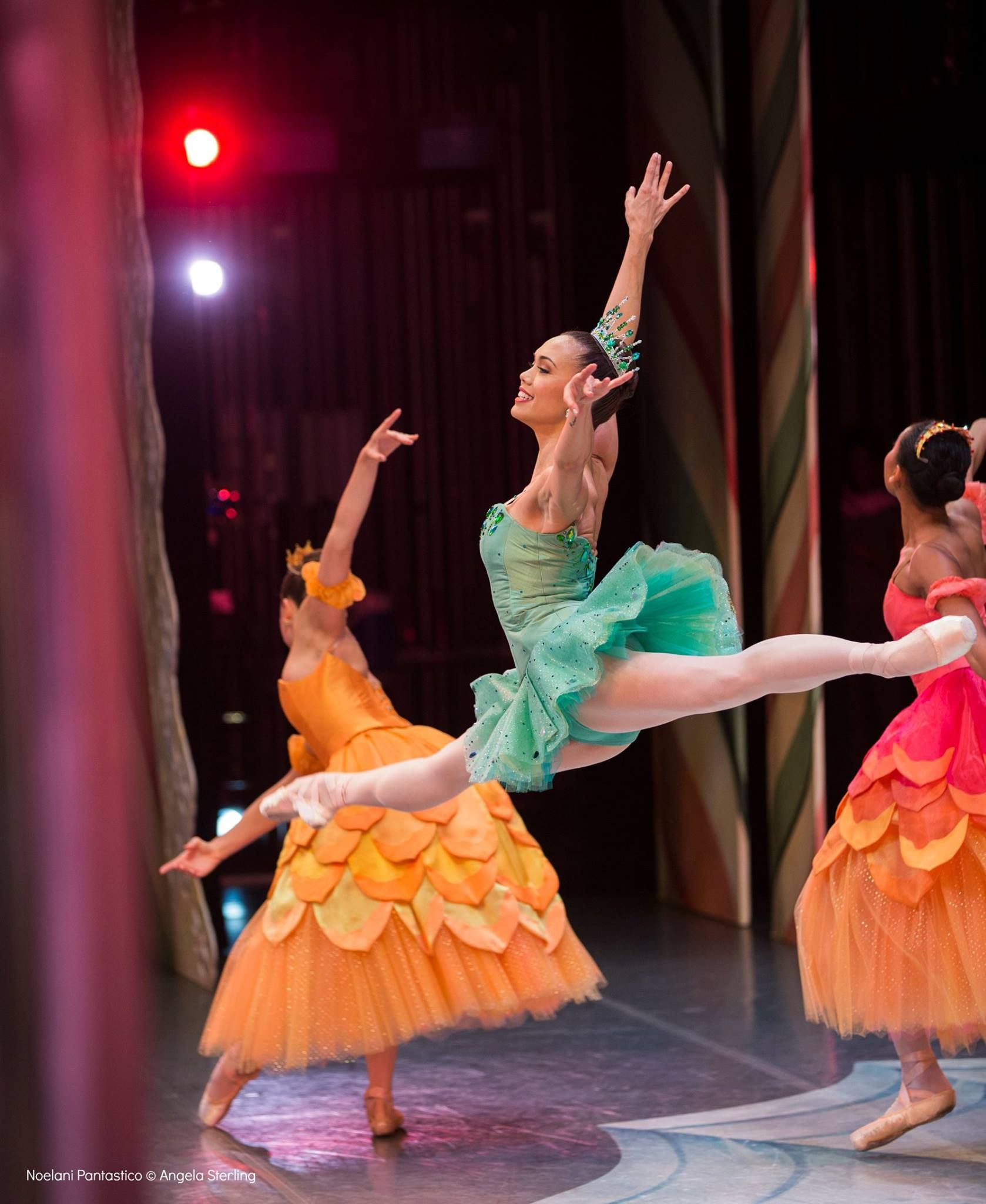 PNB's Noelani Pantastico dancing Dewdrop from the wings in 'The Nutcracker'