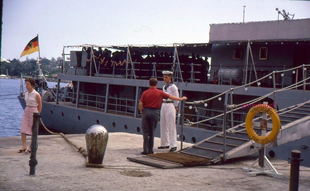 35mm color slide german federal navy ship graf spee