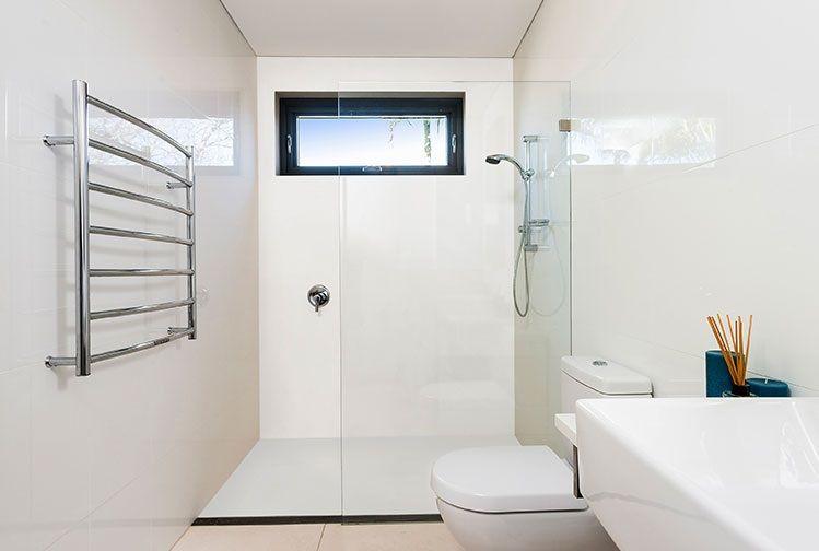 Corian Colour Glacier White Application Shower Floor And Wall Corian Shower Walls Bathroom Design Bathrooms Remodel