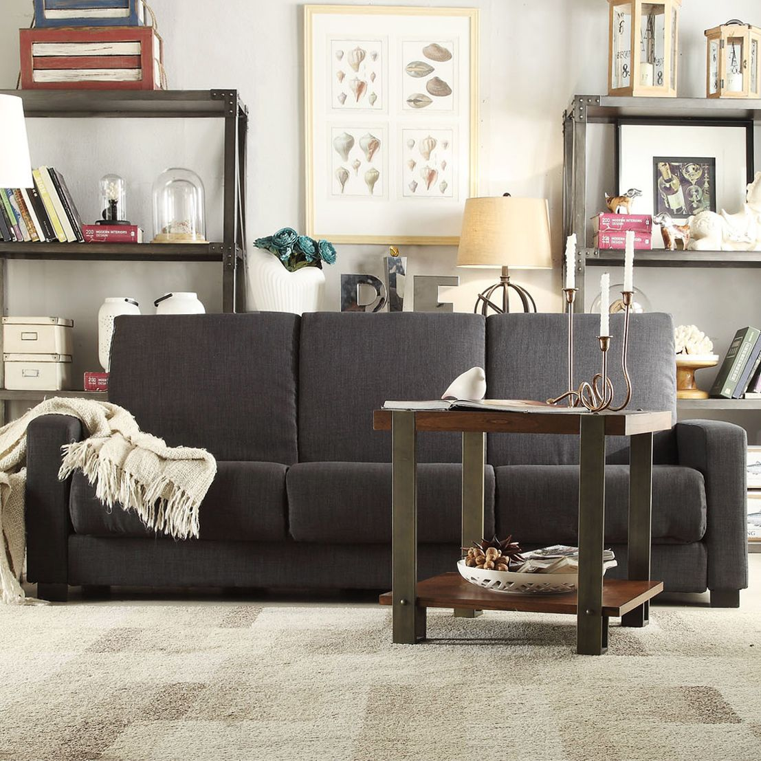 Medium image of inspire q anaheim dark gray linen futon sofa sleeper for upstairs  i like the idea of having a sleeper sofa since we don u0027t technically have a guest bedroom