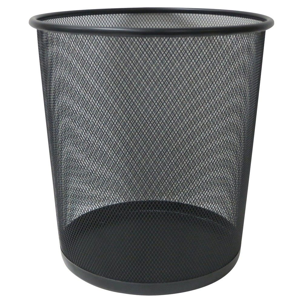 white Essentials Wire Mesh Waste Basket