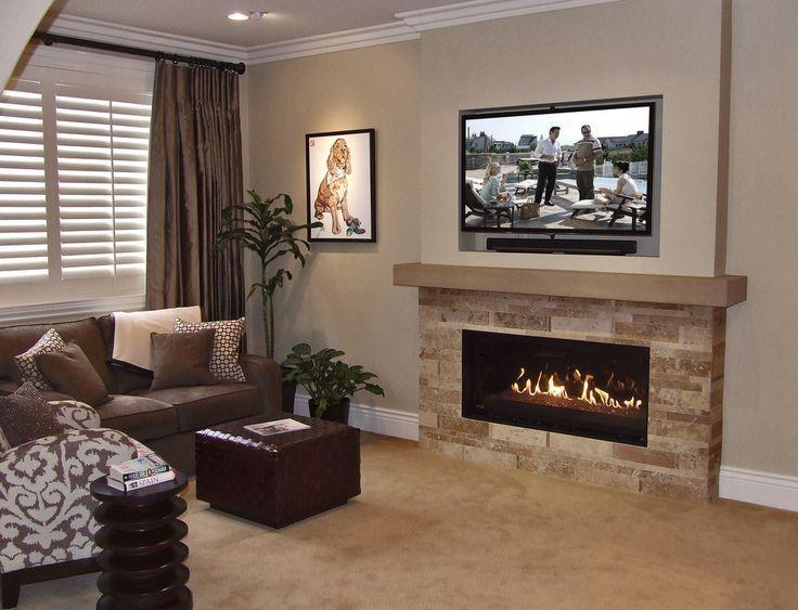1000 Ideas About Tv Above Fireplace On Pinterest Fireplaces Tv Tv Above Fireplace Basement Fireplace Linear Fireplace