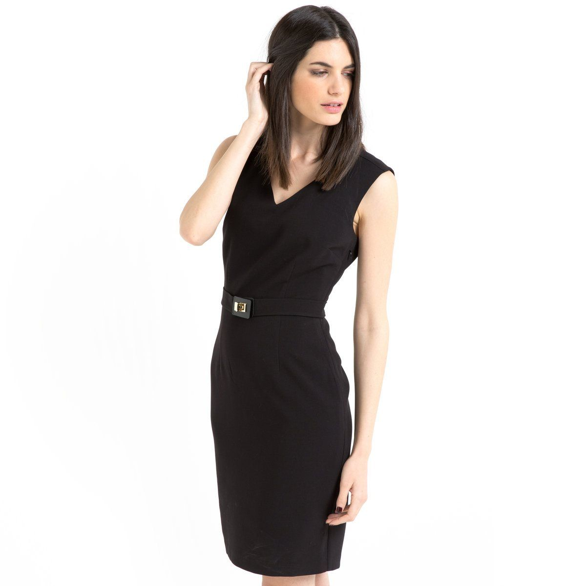 Vestido direito sem mangas Laura Clement | La Redoute