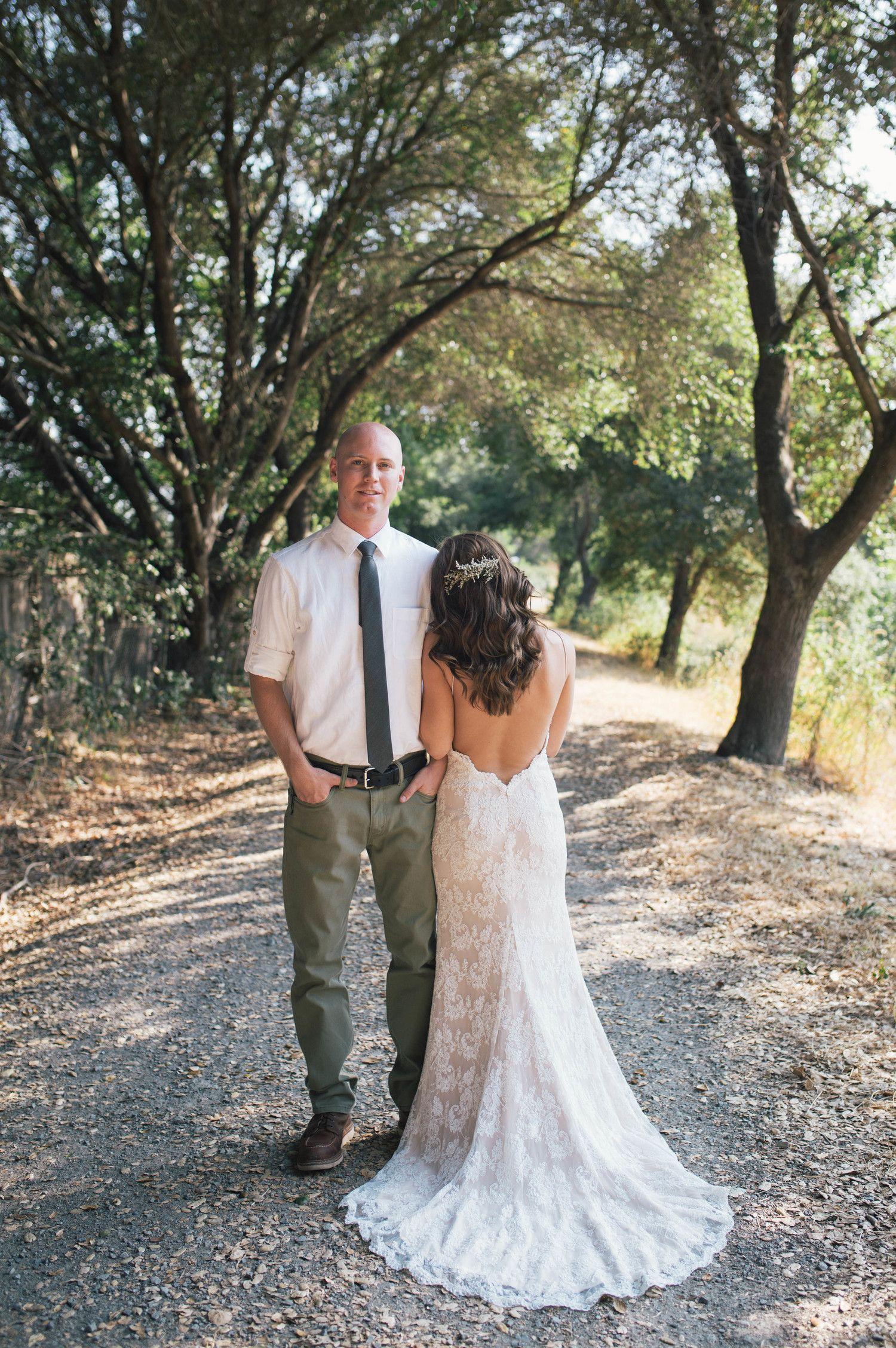 Nature wedding dress  sonomacountyweddingphotographerportraitscouplesbridegroom