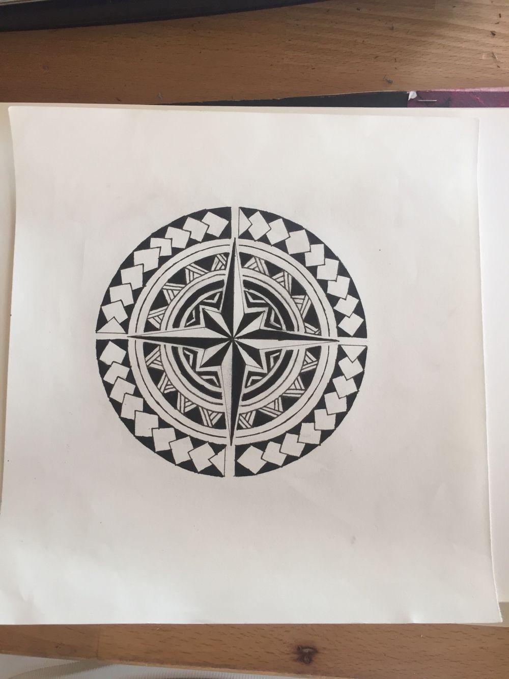 Rose des vents maori mandala jewelry design ideas pinterest tatouages polyn siens - Tatouage rose des vent ...