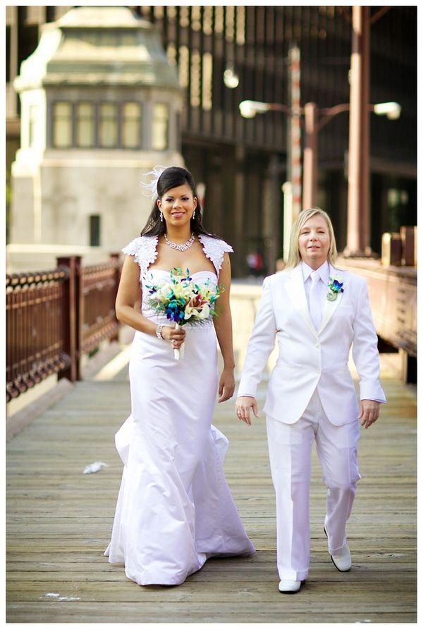 Nice Tux/dress, Fabulous, Lesbian Wedding, Maggie Rife Photography