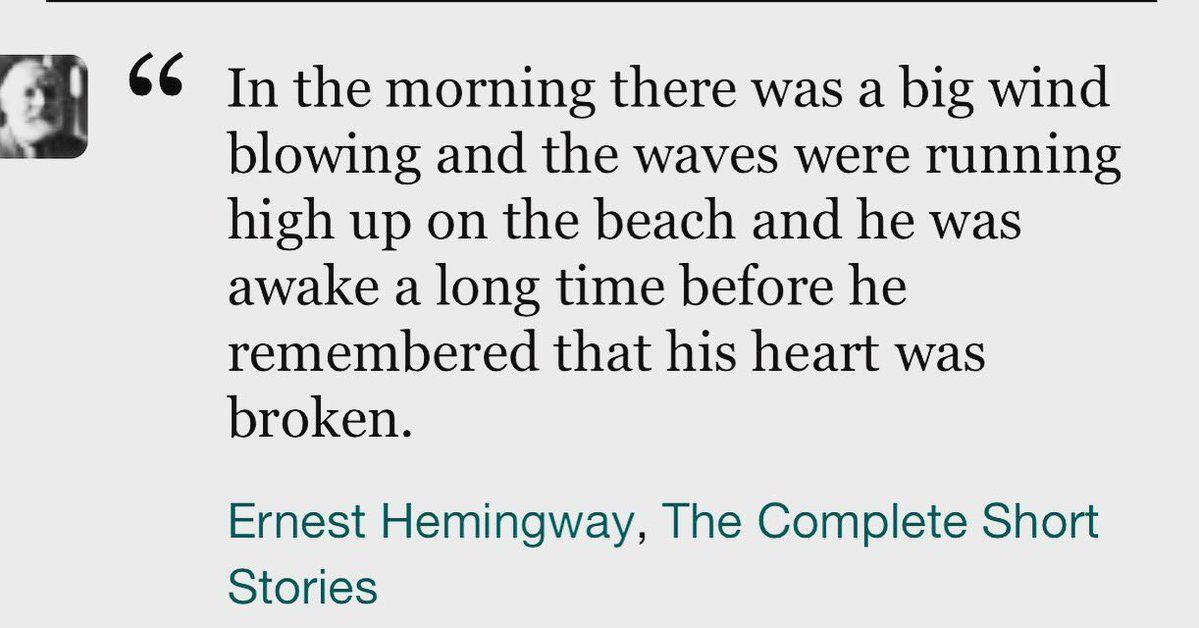 Williamlobb Twitter Short Storie Ernest Hemingway Author Oscar Wilde Essay On Disobedience