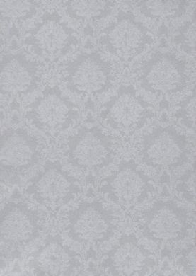 Silver Small Satin Damask Wallpaper
