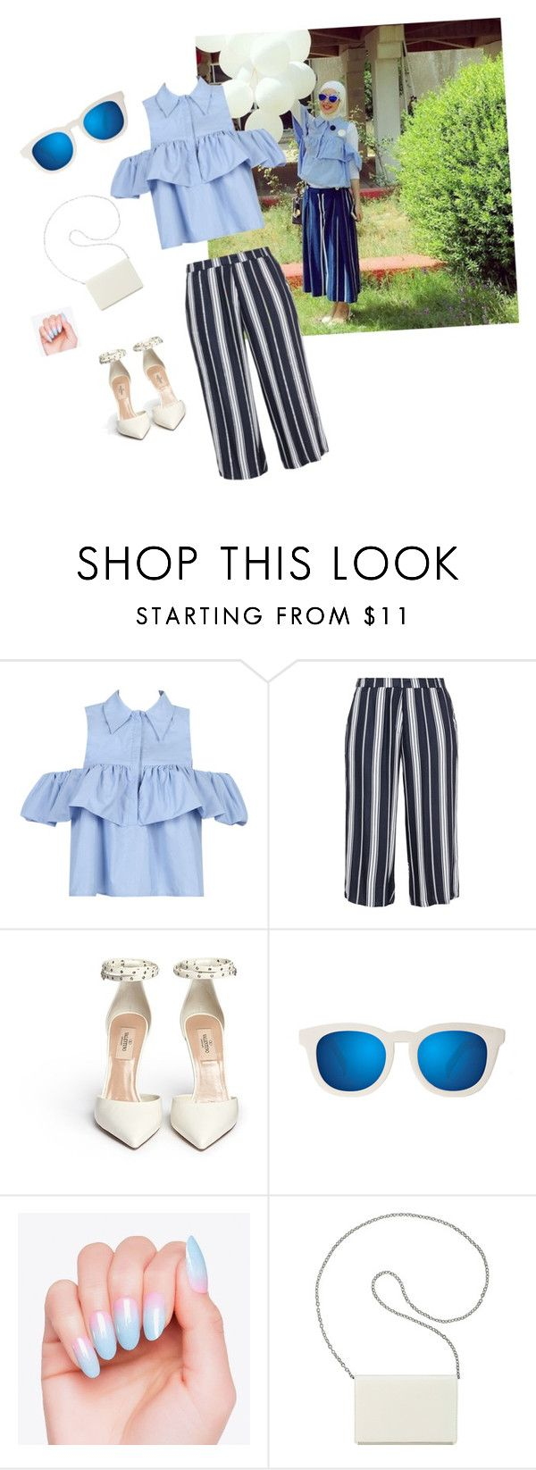 """""""Untitled #12"""" by sabaalagha ❤ liked on Polyvore featuring WithChic, Zhenzi, Quay and Nine West"""