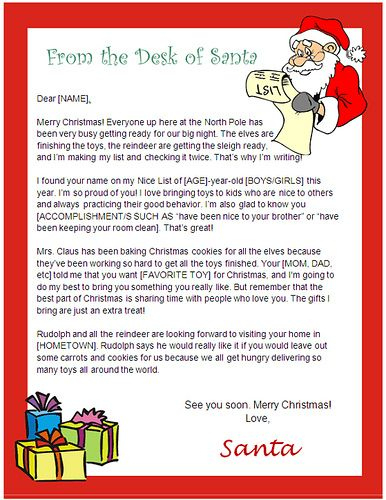 Ms Word Christmas Letter Template from i.pinimg.com
