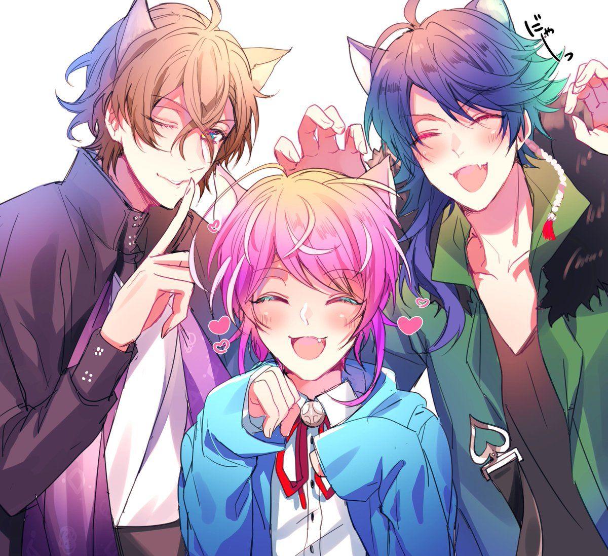ruina🌸は低浮上中 on Anime friendship, Anime guys, Cute anime boy