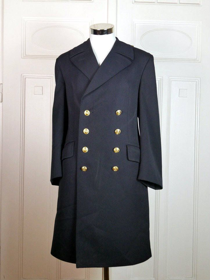 Double breasted european military coat