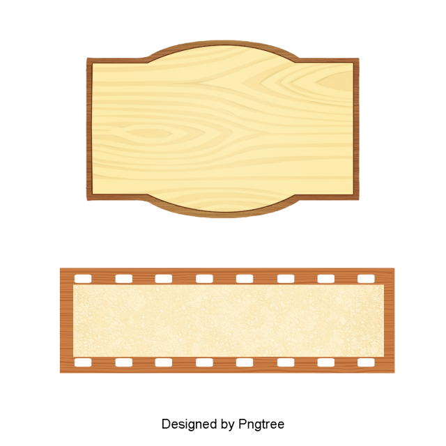 Exquisite Cartoon Cute Retro Wood Label Title Bar Title Bar Bulletin Board Label Png Transparent Clipart Image And Psd File For Free Download Wood Labels Clip Art Borders My Scrapbook