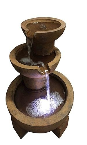 Springfield Slate Falls Lit Water Feature Fountain Ideal Garden /& Patio Gift Idea