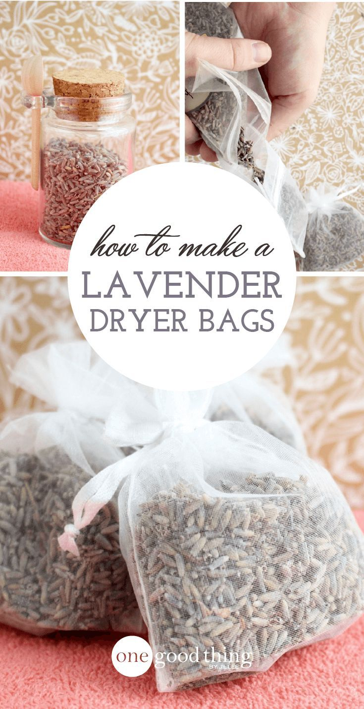 How To Make Your Clothes Smell Good In The Dryer diy lavender dryer bags | diy cleaning products, safe