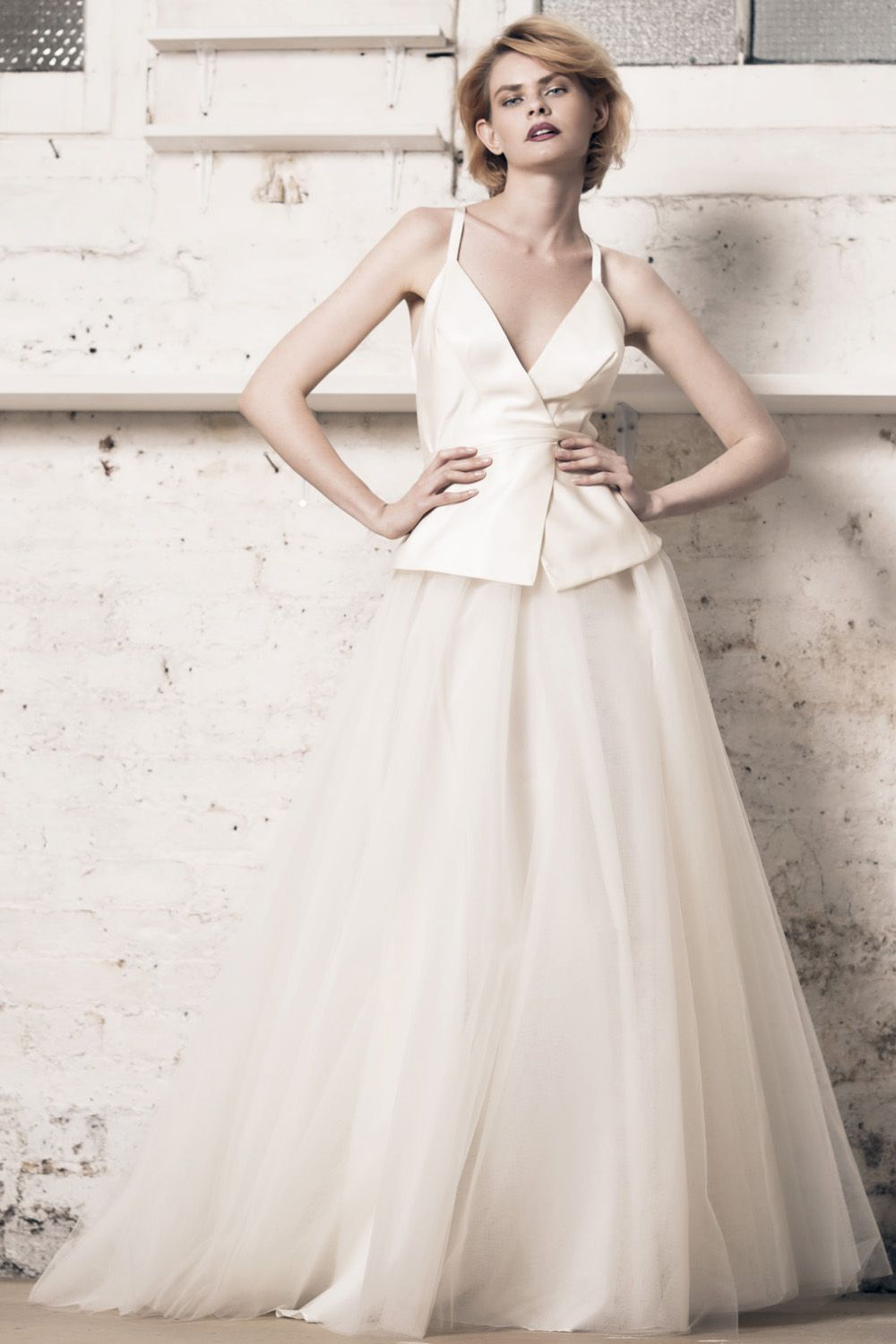 Modern wedding dress for the contemporary bride. Lily top, Felicity ...